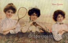 spo024714 - Tennis, Old Vintage Antique, Post Card Postcard
