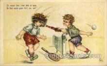 spo024717 - Tennis, Old Vintage Antique, Post Card Postcard