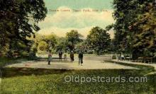 spo024719 - Bronx Park, New York, USA Tennis, Old Vintage Antique, Post Card Postcard