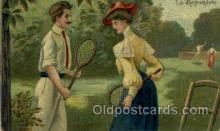 spo024720 - La Rencontre Tennis, Old Vintage Antique, Post Card Postcard