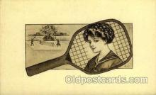 spo024721 - Tennis, Old Vintage Antique, Post Card Postcard