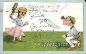 spo024725 - Tennis Old Vintage Antique Postcard Post Cards