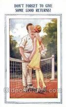 spo024729 - Tennis Old Vintage Antique Postcard Post Cards