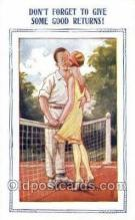 spo024730 - Tennis Old Vintage Antique Postcard Post Cards