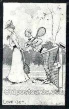 spo024737 - Tennis Old Vintage Antique Postcard Post Cards