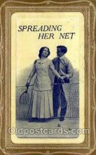 spo024739 - Tennis Old Vintage Antique Postcard Post Cards