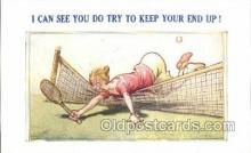 spo024743 - Tennis Old Vintage Antique Postcard Post Cards
