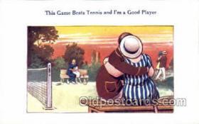 spo024744 - Tennis Old Vintage Antique Postcard Post Cards
