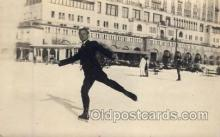 spo025036 - ice skating postcard postcards