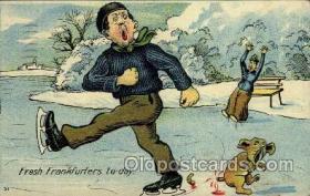 spo025040 - ice skating postcard postcards