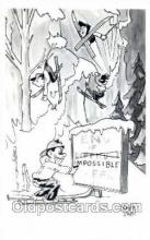 spo025070 - Ski, Skiing Postcard Postcards