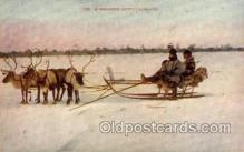 spo025078 - Sleigh Riding, Winter Sports Postcard Postcards