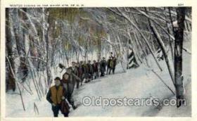 spo025080 - Hiking, White Mountains of New Hampshire USA, Winter Sports Postcard Postcards