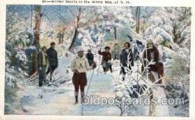 spo025081 - Hiking, White Mountains of New Hampshire USA, Winter Sports Postcard Postcards