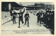 spo025083 - Snow Shoe Race, Canada, Winter Sports Postcard Postcards