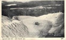 spo025085 - Olympic Bob Run, Lake Placid, USA Winter Sports Postcard Postcards