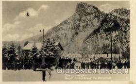 spo025132 - Oberammergau Bayer Eiskunshauf-Meisterschaft, Snow Skiing Postcard Postcards
