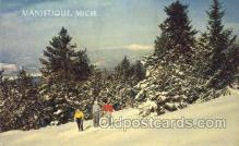 spo025143 - Manistique, MI, USA Ski, Skiing Postcard Postcards