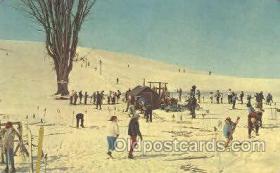 spo025149 - Mt Otsego Ski Tow, Cooperstown, NY, USA Ski, Skiing Postcard Postcards