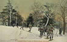 spo025164 - Snowshoe tramp, Mount Royal, Montreal Winter Sports Postcard Postcards