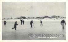 spo025187 - Alaska Ice Skating, Skiing, Winter Sports Postcard Postcards