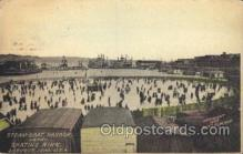 spo025188 - Steam Boat Harbor and Skating Rink, Dubuque, Iowa, USA Ice Skating, Skiing, Winter Sports Postcard Postcards