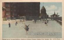 spo025191 - Dufferin Terrace, Quecbec, P.Q., Canada Ice Skating, Skiing, Winter Sports Postcard Postcards