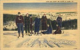 spo025208 - Atop Big Gusty Ski Sloope At Kane, Pa, USA Ice Skating, Skiing, Winter Sports Postcard Postcards
