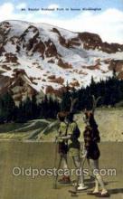 spo025223 - Mt. Rainier National Park Washington USA Ski Sking Postcard Post Cards