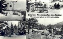 spo025247 - Wintersportplatz in 1230M Seehohe Ski Sking Postcard Post Cards