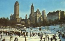 spo025254 - Central Park, New York City, USA Ski Sking Postcard Post Cards