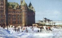 spo025257 - Chateau Frontenac Hotel, Quebec Canada Ski Sking Postcard Post Cards