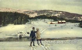 spo025273 - Ski Sking Postcard Post Cards