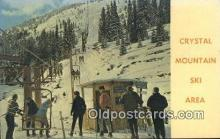 spo025340 - Crystal Mountain Ski Area, Mount Rainier Ski, Skiing Postcard Post Card Old Vintage Antique