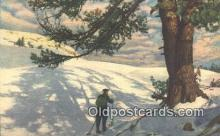 spo025353 - Ski, Skiing Postcard Post Card Old Vintage Antique