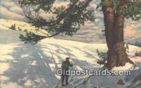 spo025353 - Ski, Skiing Postcard Post Card Old Vintage Antique
