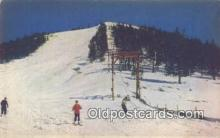 spo025354 - Snow Sports In The Sierras Ski, Skiing Postcard Post Card Old Vintage Antique