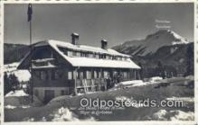 spo025368 - Les Pacots Chantel St Denis Foyer De Corbettaz, Real photo Ski, Skiing Postcard Post Card Old Vintage Antique