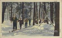 spo025373 - Ski, Skiing Postcard Post Card Old Vintage Antique