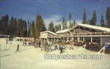 spo025378 - Badger Pass Ski House, Yosemite National Park, CA USA Ski, Skiing Postcard Post Card Old Vintage Antique