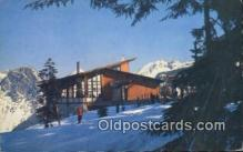 spo025383 - Thunderbird Restaurant Ski, Skiing Postcard Post Card Old Vintage Antique