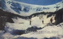 spo025406 - Tuckerman Ravine, Little Headwall, MT Washington, NH USA Ski, Skiing Postcard Post Card Old Vintage Antique