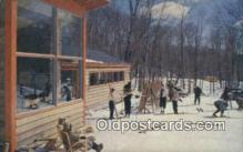 spo025408 - The Base Box, Waitsfield, VT USA Ski, Skiing Postcard Post Card Old Vintage Antique