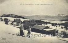 spo025413 - Au Revard En Hiver Ski, Skiing Postcard Post Card Old Vintage Antique