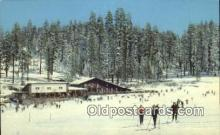 spo025423 - Badger Pass Ski House, Yosemite National Park, CA USA Ski, Skiing Postcard Post Card Old Vintage Antique
