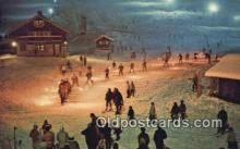 spo025439 - Snoqualmie Summit Ski Area, WA USA Ski, Skiing Postcard Post Card Old Vintage Antique