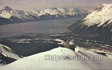 spo025444 - MT Alyeska, AK USA Ski, Skiing Postcard Post Card Old Vintage Antique
