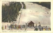 spo025453 - The Relay, Lake Beauport, Quebec, Canada Ski, Skiing Postcard Post Card Old Vintage Antique