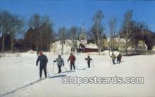 spo025454 - Ski Touring in The village, Jackson, NH USA Ski, Skiing Postcard Post Card Old Vintage Antique