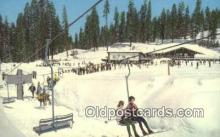 spo025468 - Badger Pass Ski House, Yosemite National Park, CA USA Ski, Skiing Postcard Post Card Old Vintage Antique